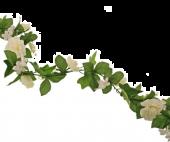 180cm Wedding Garland White