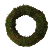 Wreath Flat Moss 30cm Natural