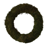 Wreath Flat Moss 40cm Natural