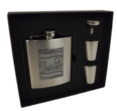Hipflask W/2 Cups & Funnel 'Usher'