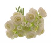 28cm Ranunculus Bundle White