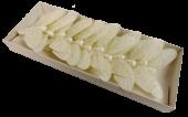 10cm Pastel Sparkle Feather Butterflies x 12pcs Cream