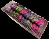 10cm Jewel Tone Feather Butterflies Assorted x 12pcs