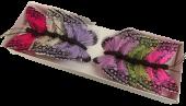 7cm Jewel Tone Feather Butterflies Assorted x 12pcs