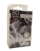 80 Micro LED Chain Lights Indoor/Outdoor