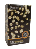200 Bo Timer String Lights - Warm White