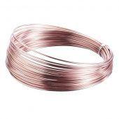 Aluminium Wire 2mm x 100g (App 11.5m) Rose Gold