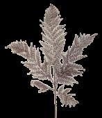Glittered Leather Fern 86cm Rose Gold