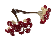 Small Toadstool x 12 x 2 Bunches Red/White