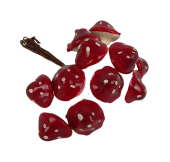 Large Toadstool x 12 Red/White