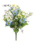 Cosmos/Viburnum/Blossom Bush Cream/Yellow/Blue