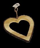 Wooden Heart Hanger 15cm