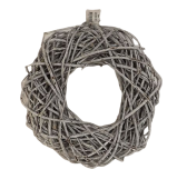 Wreath Willow 30cm Stone Washed White