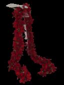 Pointsettia Chain Garland