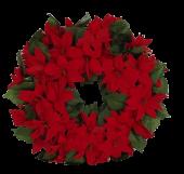 Pointsettia Wreath Red 45cm