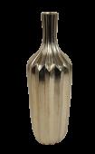 39Cm Silver Ridged Vase