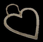 Raw Nickel Finish Heart 30cm