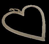 Raw Nickel Finish Heart 50cm