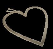 Raw Nickel Finish Heart 60cm