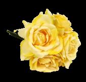 27cm Yellow Open Rose Posy