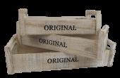 Set Of 3 Wooden Crates