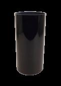 30 x 15cm Black Cylinder Vase