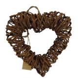 Twig Heart D - 25cm (Wire Frame)