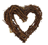 Twig Heart D - 35cm