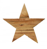 20cm Recycled Wooden Star Natural