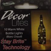 Decor Lites 10 LED Bottle Lights Warm White