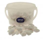 4kg Bucket 20-40mm Tumbled Snow White Stones