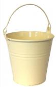 Cream Zinc Bucket Diameter - 6.5cm