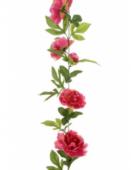 Peony Garland 180cm Dark Pink