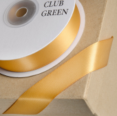 Double Face Satin 15mm x 25mtr Old Gold