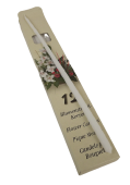 Flower Candles 300/09 White x 12