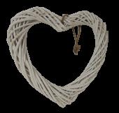 White Willow Heart 35cm
