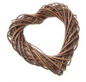 30cm Willow Heart - Natural (30cm long)