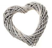 30cm Willow Heart - Grey (30cm long)
