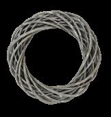30cm Thick Willow Wreath - Grey (30cm diameter)