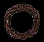 40cm Thick Willow Wreath - Natural (40cm diameter)