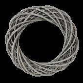 40cm Thick Willow Wreath - Grey (40cm diameter)