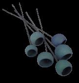50cm Bell Cup Stem Blue x 6