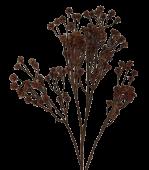 72cm Gypsophila Spray Brown