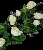 180cm Plush Rose Garland Cream