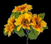 27cm Sunflower Bush 5 Heads