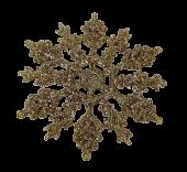10cm Glitter Snowflake x24 Boxed Champagne