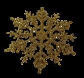 10cm Glitter Snowflake x24 Boxed Gold