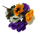 Anemone Bush - Purple/Yellow/White 27cm
