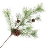 Natural Spruce Spray W/Pine Cones 60cm