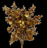 Glittered Eucalyptus Bush 55cm Gold